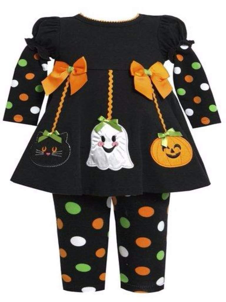 Bonnie Jean Halloween Ornaments' Applique Dress Legging Set by Bonnie Jean - My100Brands