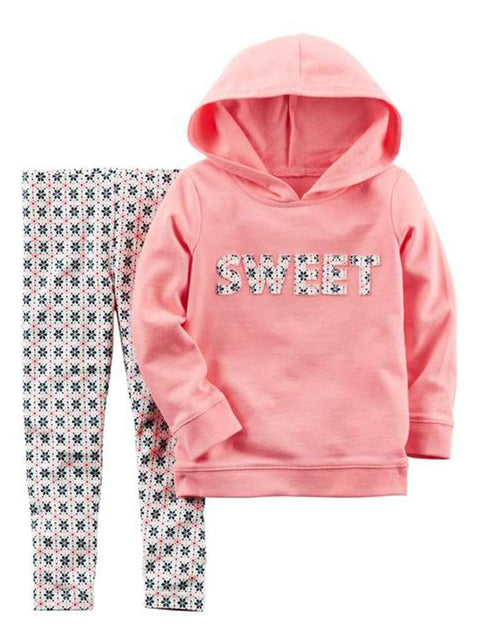 Carter's French Terry Hoodie and Leggings 2-Pc Set by Carters - My100Brands