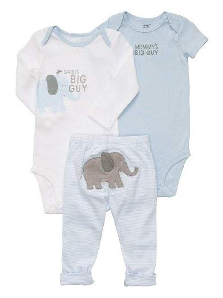Carter's Boy's Bodysuits and Pants 3-Pc Set by Carters - My100Brands