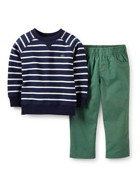 Carter's Boy's French Terry Top and Pants 2-Pc Set by Carters - My100Brands