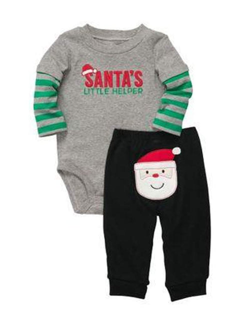 Carter's Boy's Cotton Santa Bodysuit and Pants Set by Carters - My100Brands