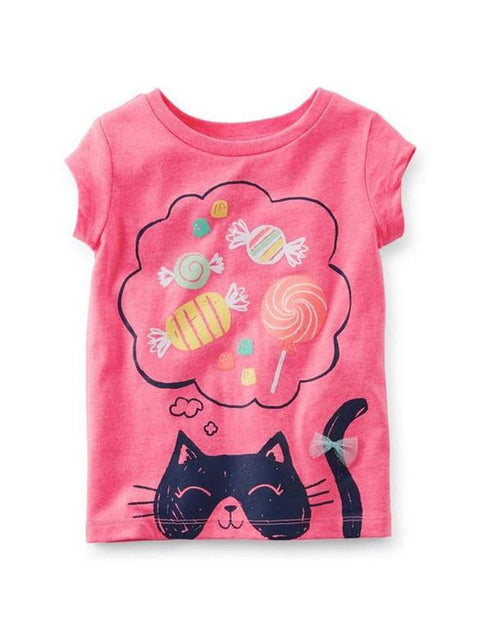 Carter's Girl's Pink Kitty's Candy Dreams Tee by Carters - My100Brands