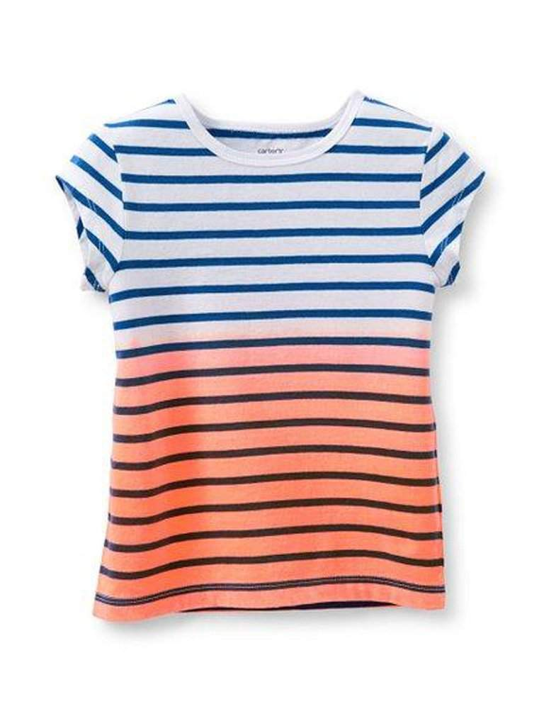 Carter's Girl's Dip Dye Striped Tee by Carters - My100Brands