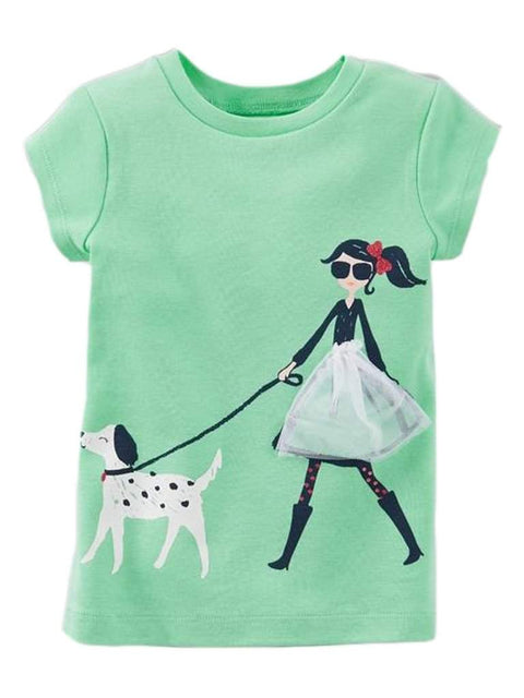 Carter's Girl's Walking Dog Tee by Carters - My100Brands