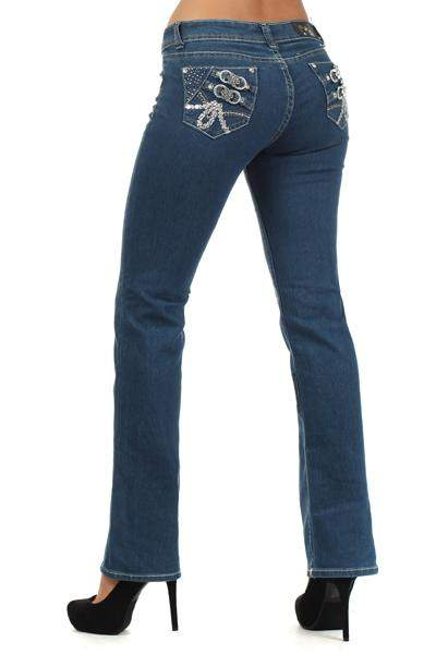 Mi-Jeans Rico Faded Straight Leg Jeans by Rico - My100Brands