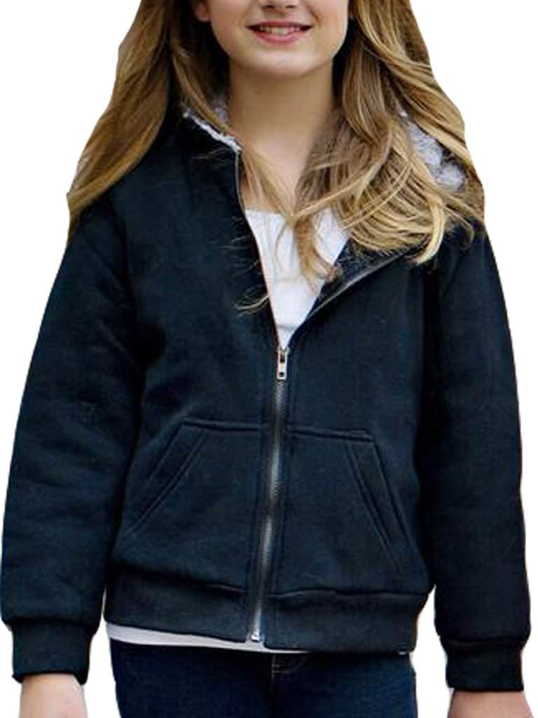 Children's Black Faux Fur-Lined Sweatshirt by Fabulous-Furs - My100Brands