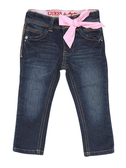 Guess Little Girl's Skinny Jeans With Bow by Guess - My100Brands