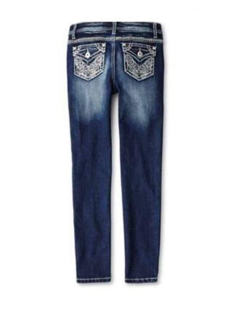 Revolution by Revolt Girl's Butterfly Embroidered Skinny Jeans by Revolution by Revolt - My100Brands