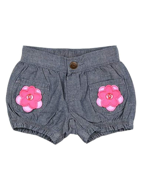 Girls' Floral Chambray Shorts by My100Brands - My100Brands