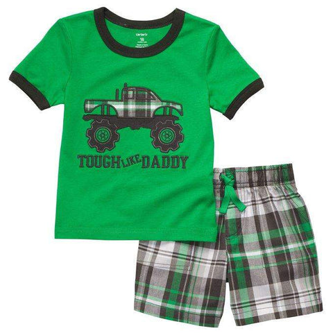 Carter's Monster Truck T-Shirt and Short 2-Pc Set by My100Brands - My100Brands