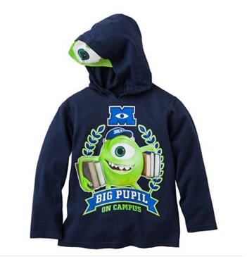 Disney - Pixar Monsters University Big Pupil On Campus Hooded by Disney - My100Brands
