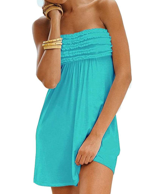 Strapless Ruffle Cover Up by My100Brands - My100Brands