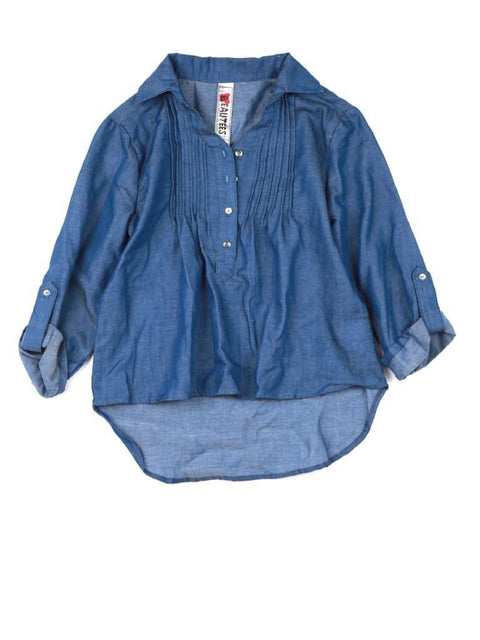 Beautees Girl's Denim Shirt by Beautees - My100Brands