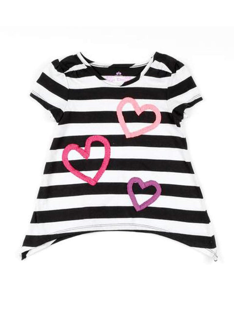 Stripes and Hearts Top by My100Brands - My100Brands