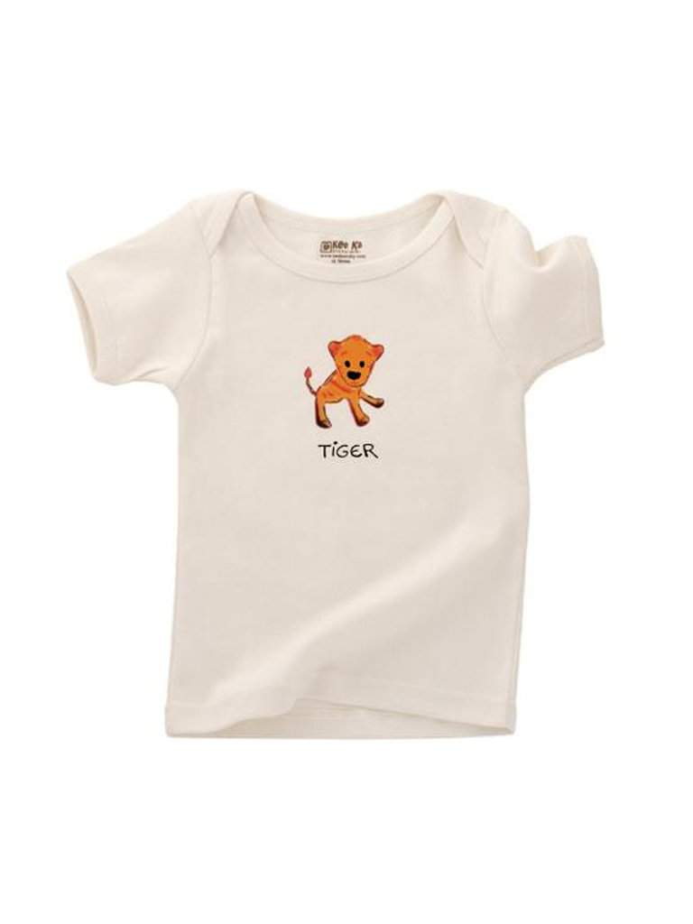 Kee-Ka Organics Short Sleeve Lap Tee - Tiger by Kee-Ka Organics - My100Brands