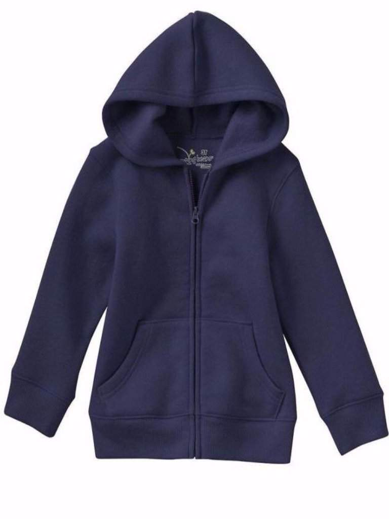 Boy's Solid Fleece-Lined Zip-Up Solid Hoodie by Jumping Beans - My100Brands