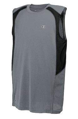Champion Boys' Double Dry Color-Block Grey Muscle Tee by Champion - My100Brands