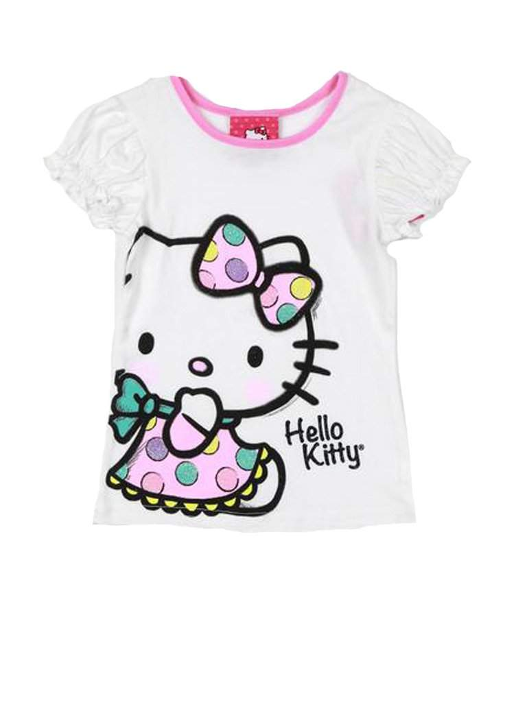 Hello Kitty Puff Sleeved Graphic Tee by Hello Kitty - My100Brands