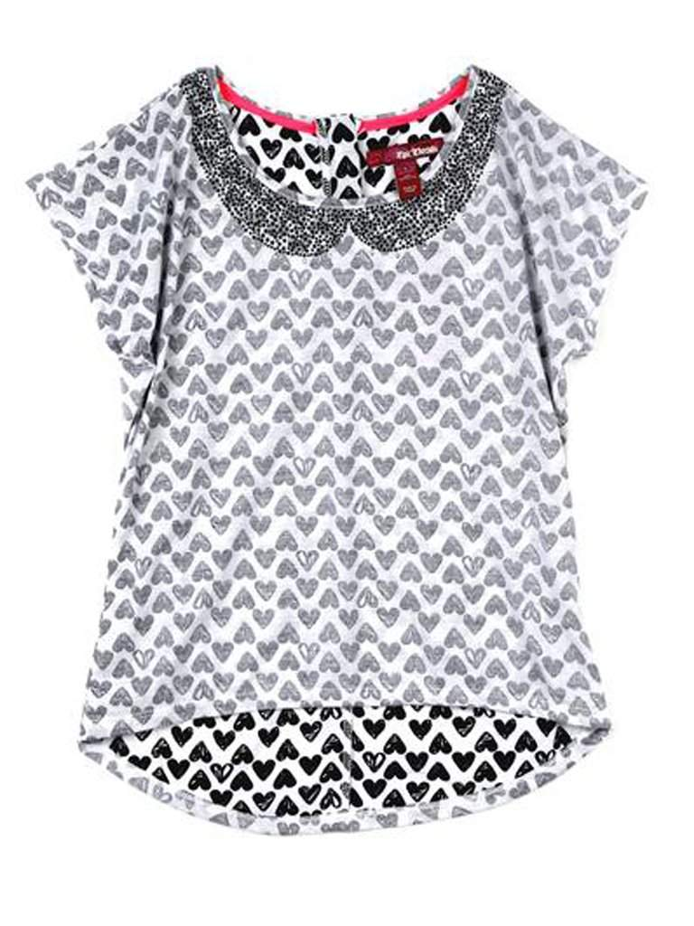Heart Print Top by My100Brands - My100Brands