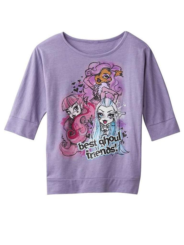 Monster High Best Ghoul Friends Girl's Tee by Monster High - My100Brands