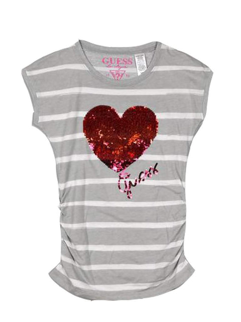 Guess Sequined Heart T-Shirt Girl's by Guess - My100Brands