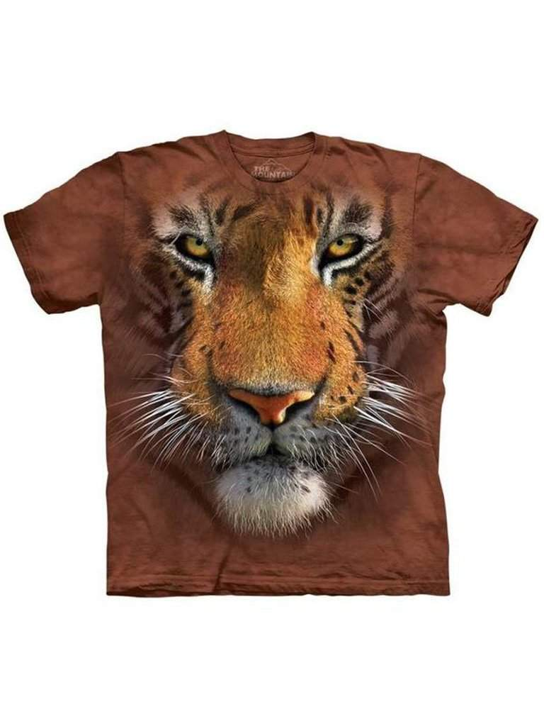 Tiger Face T-Shirt by The Mountain - My100Brands