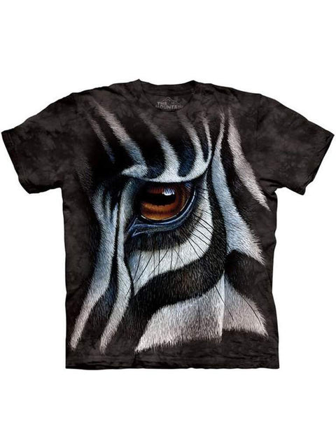 Zebra Eye T-Shirt by The Mountain - My100Brands