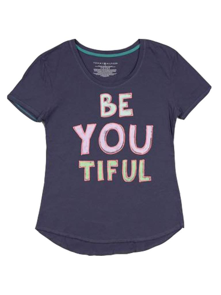 Tommy Girl Kids T-Shirt, Girls Be You Tiful Tee by Tommy Hilfiger - My100Brands