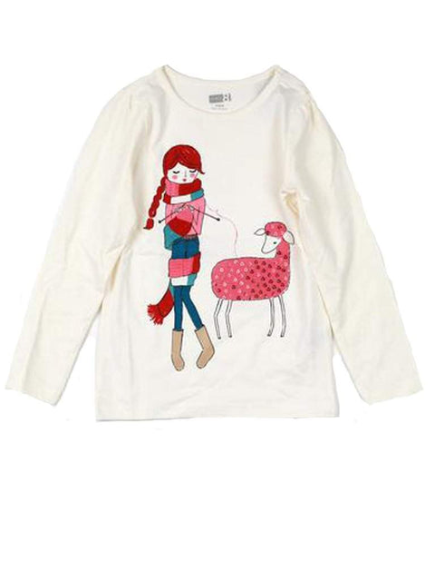 Sequin Sheep and Girl Tee by My100Brands - My100Brands
