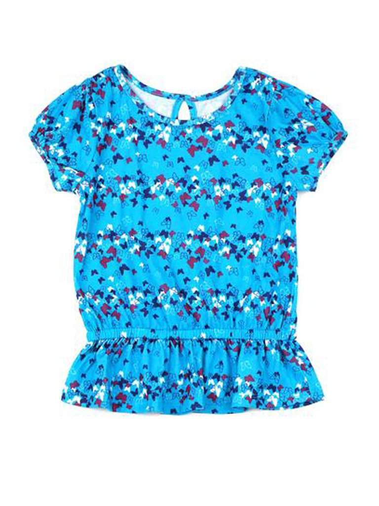 Printed Butterfly Girls Tunic by My100Brands - My100Brands