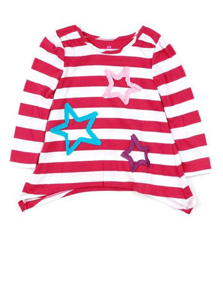 Stripe Stars Long Sleeve Tunic by My100Brands - My100Brands
