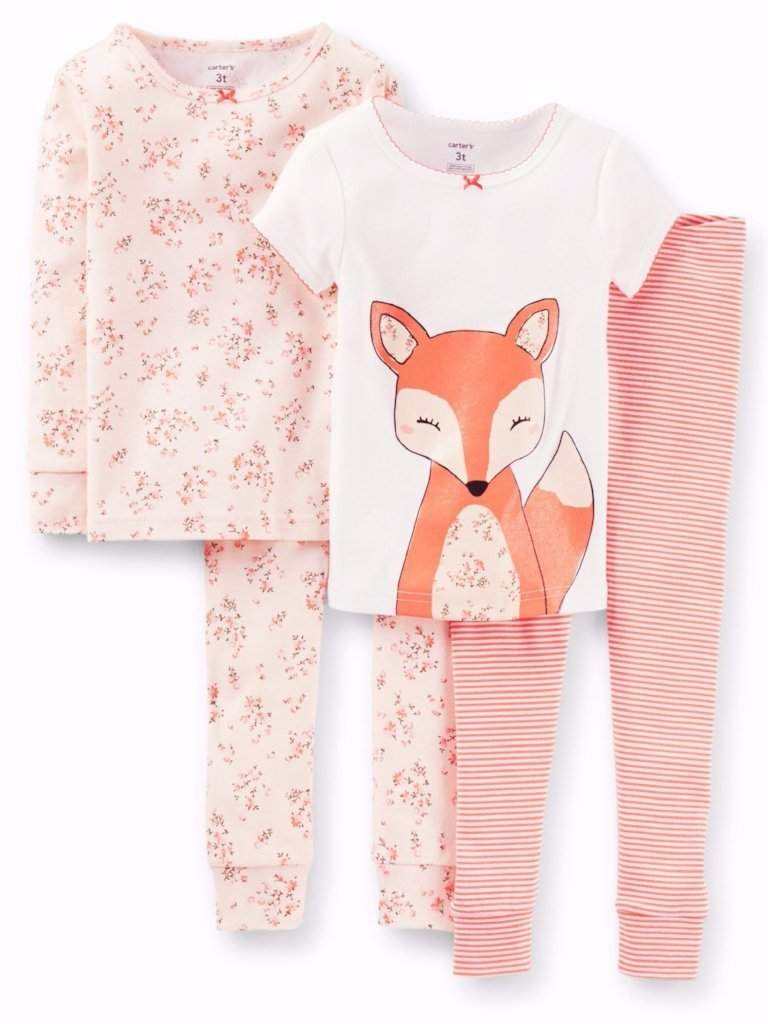 Carter's Baby Girl Cotton Pajamas 4-Pc Set by Carters - My100Brands