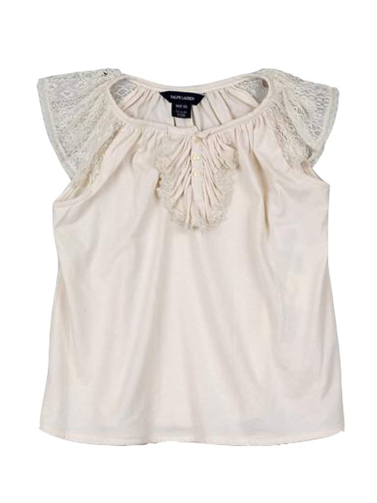 Ralph Lauren Girl's Lace Sleeve T-Shirt by Ralph Lauren - My100Brands