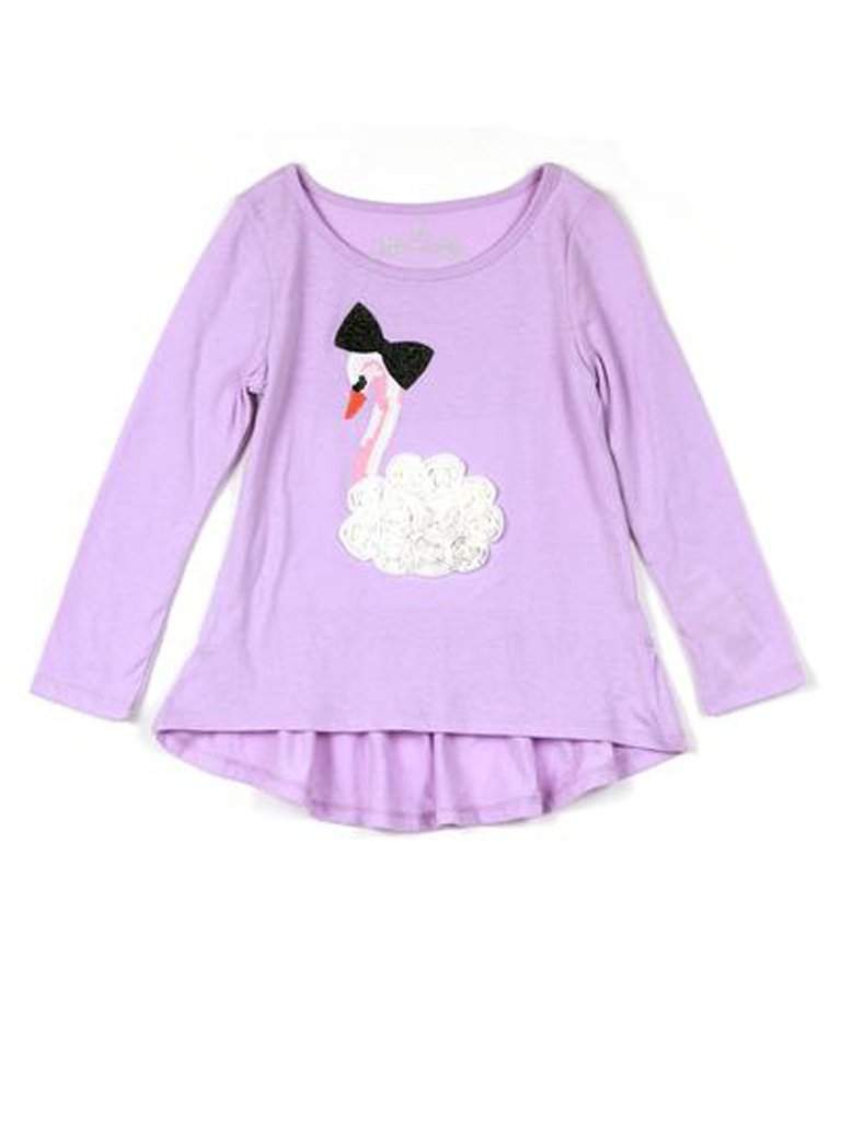 Girls Graphic Ruffle Long Sleeve Tee by My100Brands - My100Brands