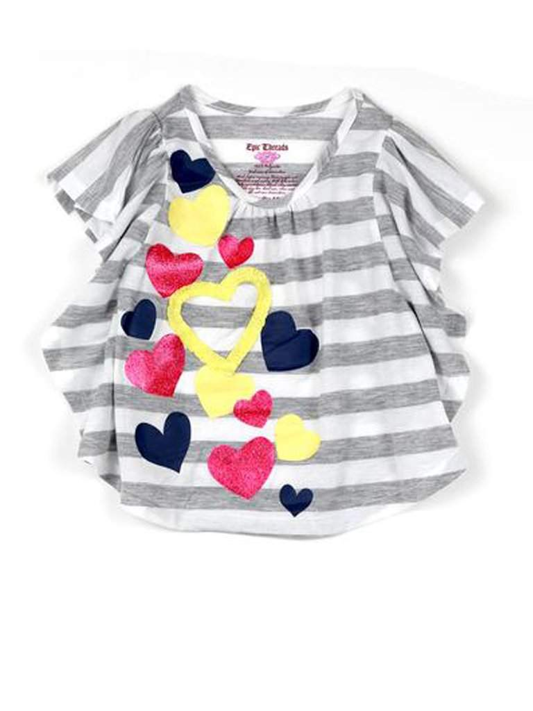 Little Girls' Stripe Circle Top by My100Brands - My100Brands