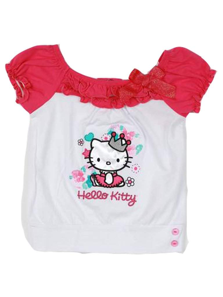 Hello Kitty Ruffled Graphic T-Shirt by Hello Kitty - My100Brands