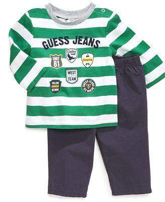 Guess Kids' Boy's Long-Sleeve Tee and Pull-On Pants Set by Guess - My100Brands