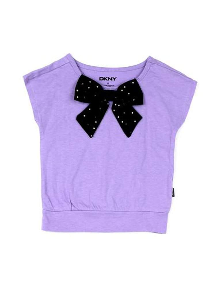DKNY Hearts Bow Tie Tee by DKNY - My100Brands