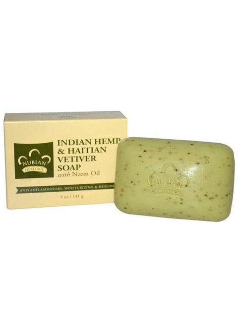 Indian Hemp & Haiti Vetiver Soap - 5 oz. by Nubian Heritage - My100Brands