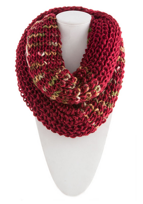 Multi Crochet with Sequin Infinity Scarf by My100Brands - My100Brands
