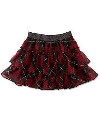 Ralph Lauren Little Girls Plaid Tiered Skirt by Ralph Lauren - My100Brands