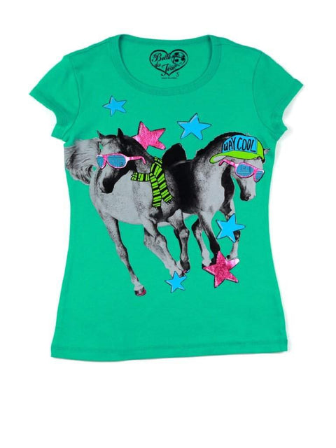Belle Du Jour Two Horse Graphic Tee by Belle Du Jour - My100Brands