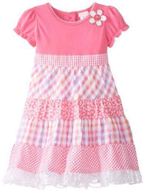 Youngland Girls' Mixed Gingham Print Dress by Youngland - My100Brands