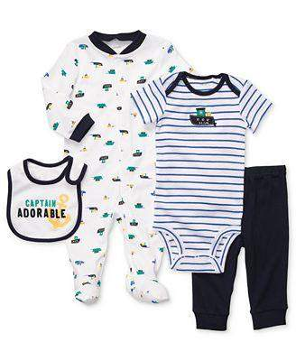 Carter's Baby Boy Footed Coveralls, Bodysuit, Pants and Bib by Carters - My100Brands