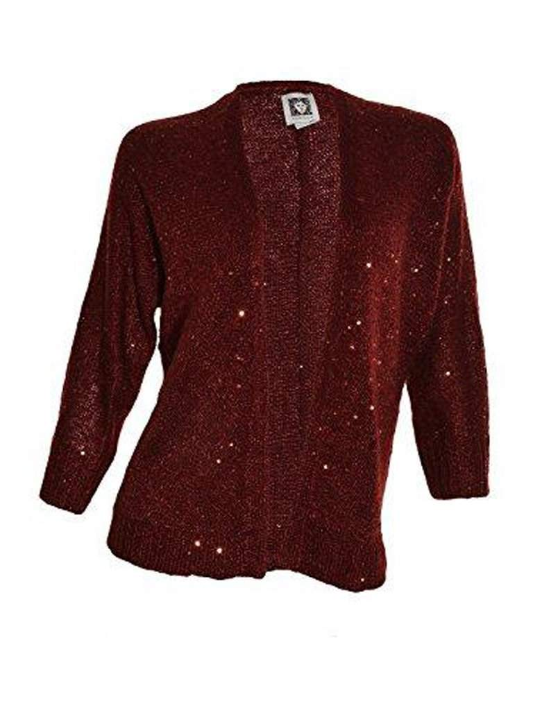 Anne Klein Sequin Open Cardigan Sweater by Anne Klein - My100Brands