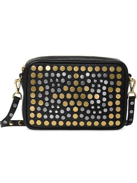 Michael Kors Jenkin North South Studded Pouches Medium Camera Bag by Michael Kors - My100Brands
