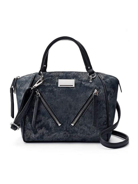 Juicy Couture Diagonal Zipper Denim Satchel by Juicy Couture - My100Brands