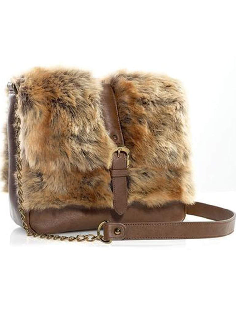 Coyote Faux Fur Crossbody Messenger Bag by Fabulous-Furs - My100Brands