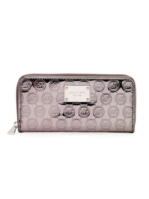 Michael Kors Jet Set Travel Continental Nickel Metallic Wallet by Michael Kors - My100Brands