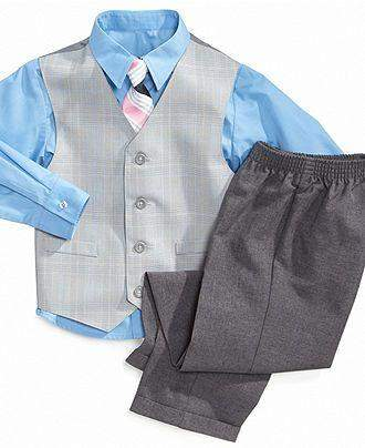 Nautica Boys' Glen Plaid Suit 4-Pc Set by Nautica - My100Brands